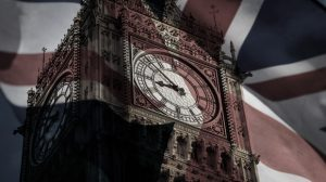 Big Ben with Union Jack overlay