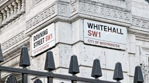 London street signs on building
