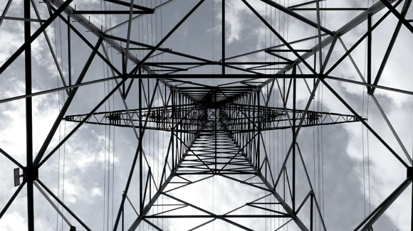 telephone mast from below