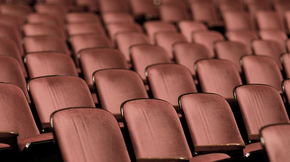 Red theatre seats.